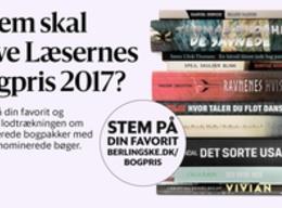 Læsernes bogpris 2017 logo