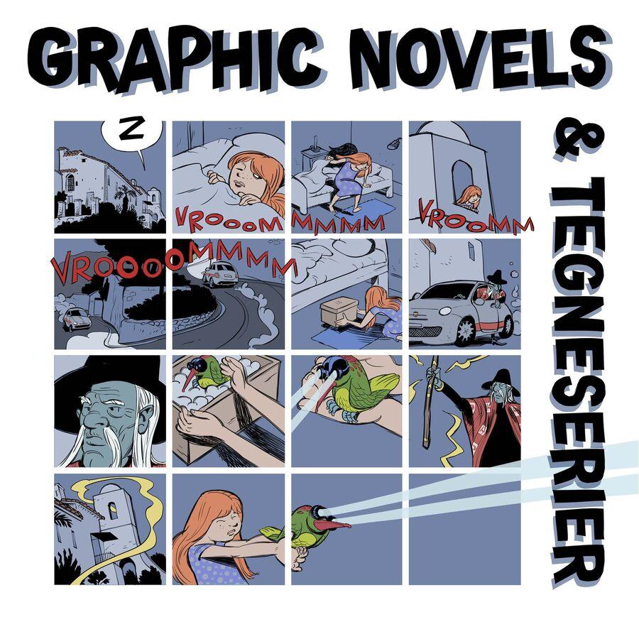 Forside til emnelisten Graphic novels & tegneserier